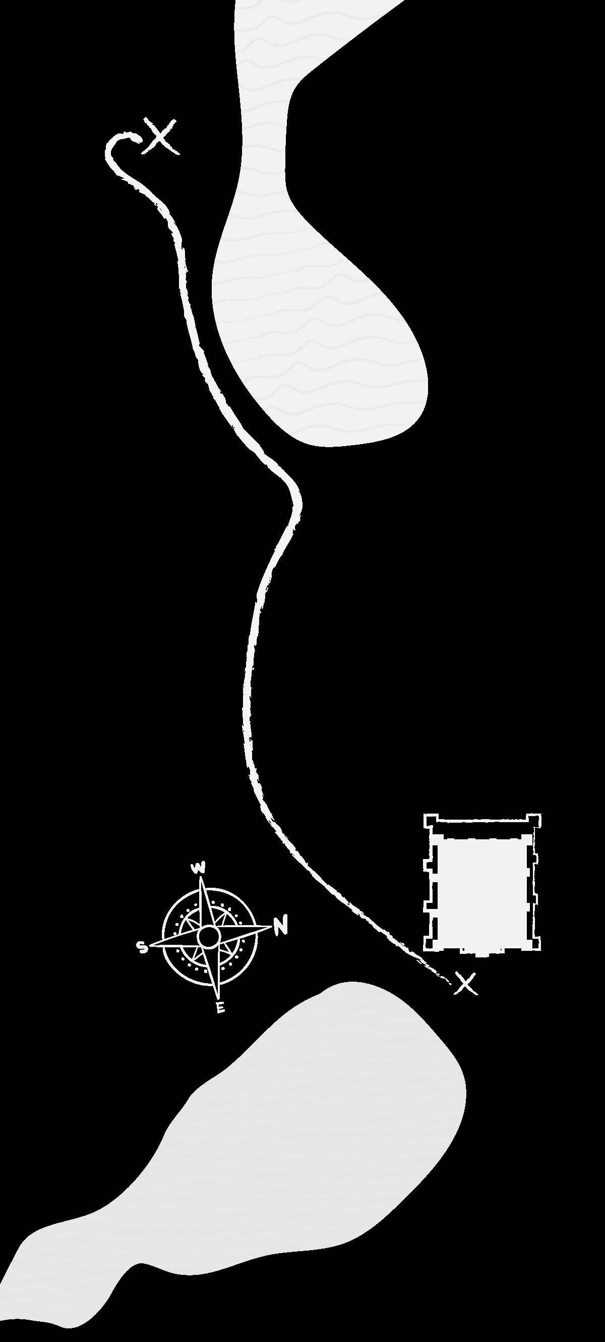 Grafika przedstawia zarys jeziora szymbarskiego z oznaczeniem zamku przy jego południowym brzegu oraz jeziora ząbrowskiego ze wskazaniem położenia cmentarza przy północno wschodnim brzegu.